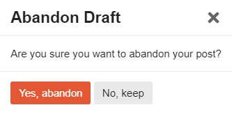 Abandon Draft